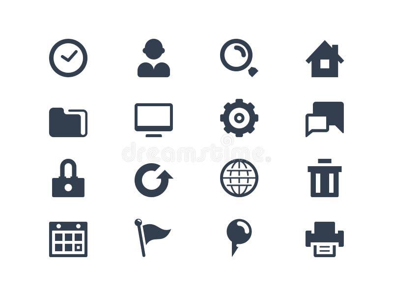 Значки сети иллюстрация вектора