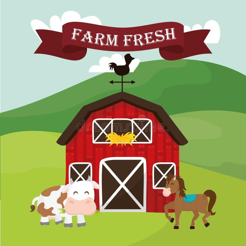 Значки сельских и фермы бесплатная иллюстрация