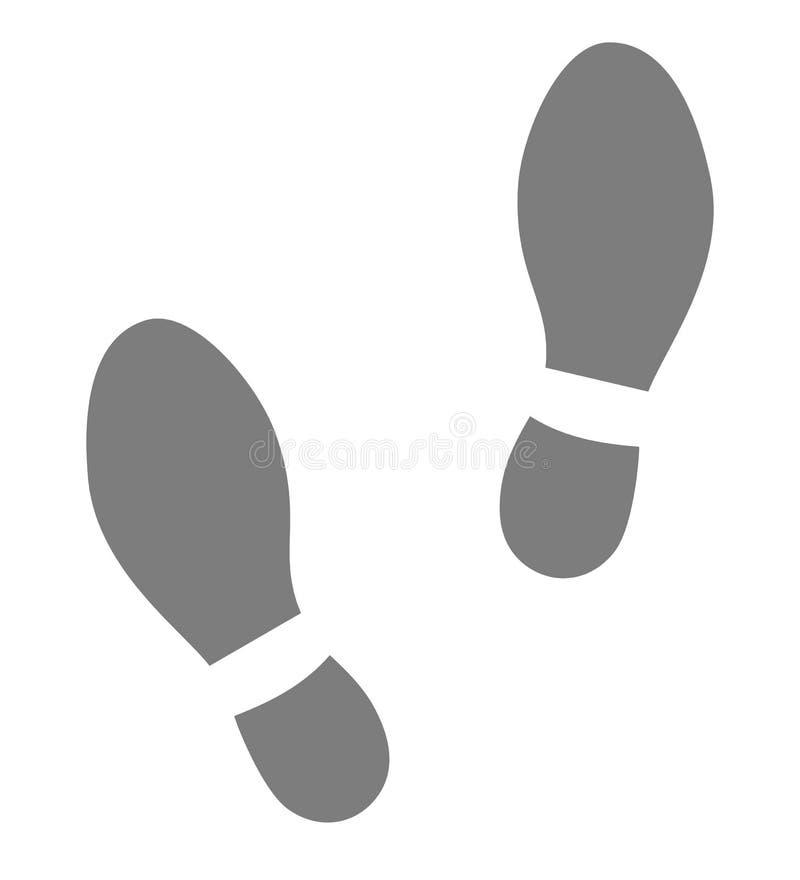 Значки следов ноги ботинок серые иллюстрация штока