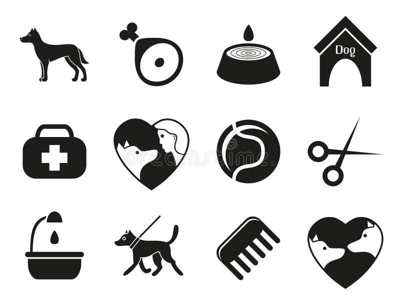 Значки собаки установленные для сети Каким собакам иллюстрация вектора