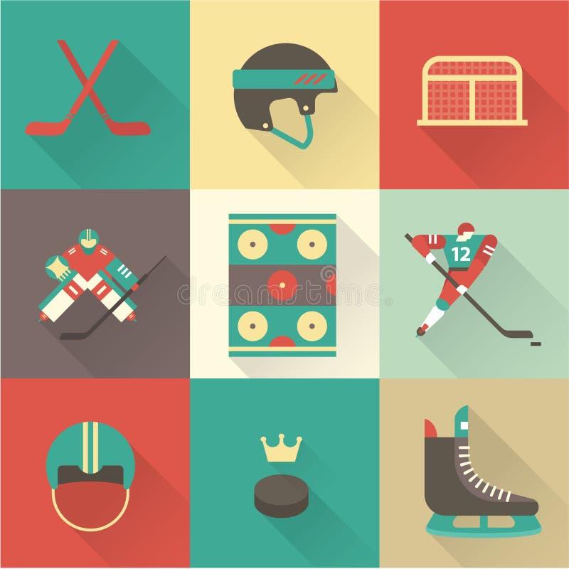 Значки спорта хоккея иллюстрация вектора