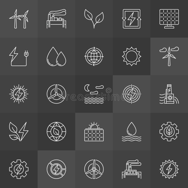 Значки способные к возрождению энергетических ресурсов бесплатная иллюстрация