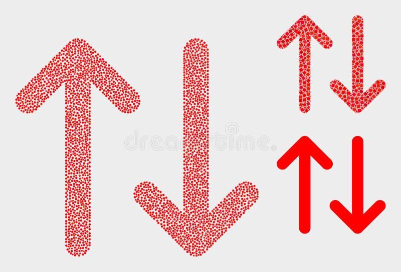 Значки стрелок обменом вектора Pixelated вертикальные иллюстрация штока