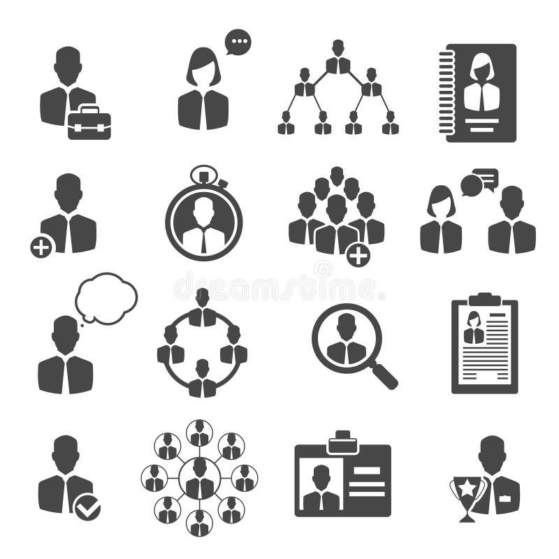 Значки структуры управления и дела людей иллюстрация вектора