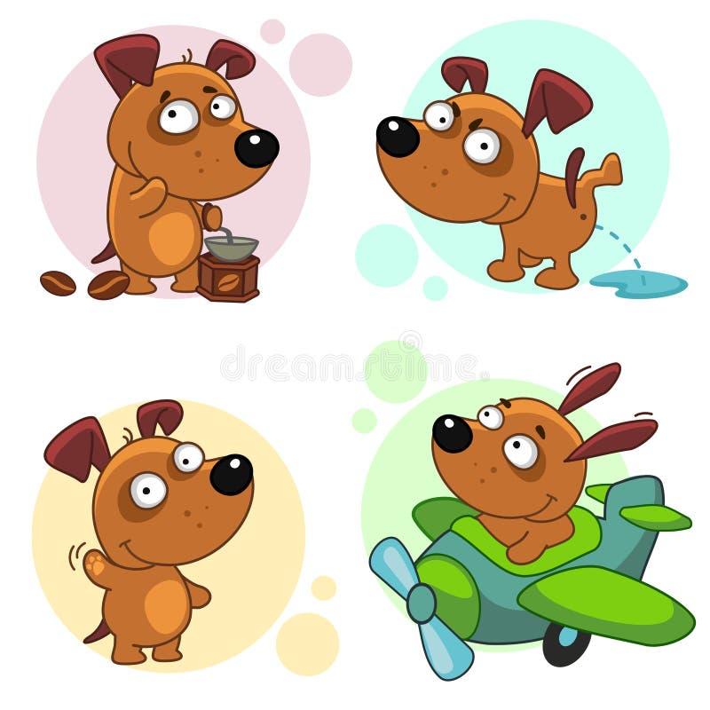 Значки с частью 2 собак иллюстрация штока