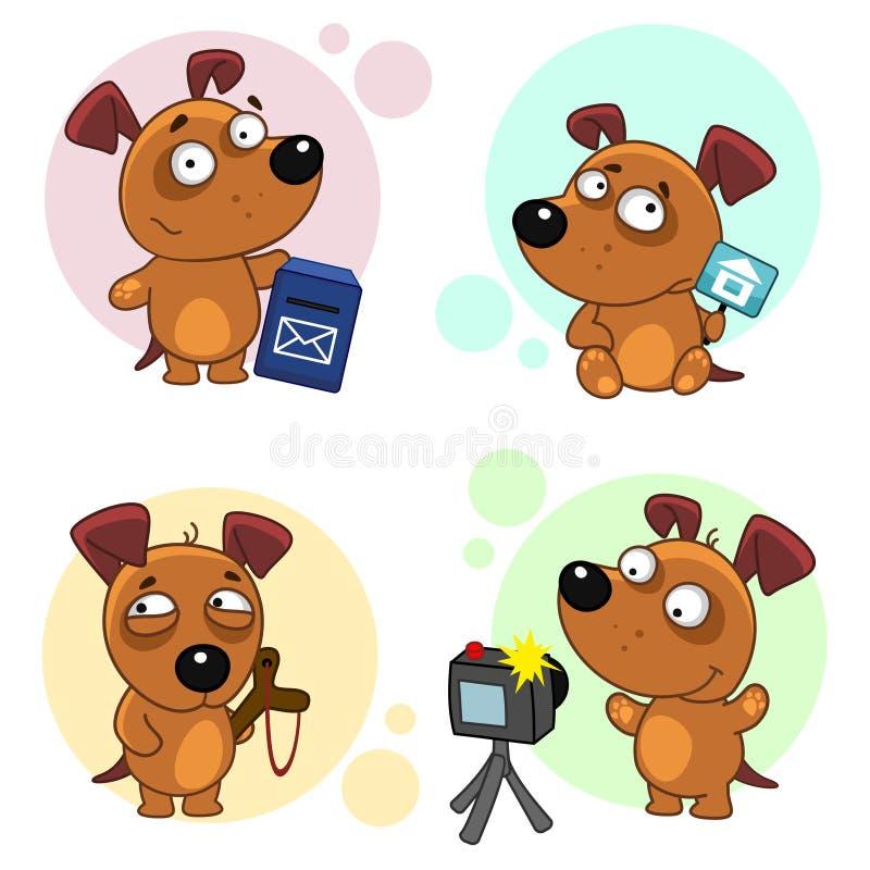 Значки с частью 3 собак иллюстрация штока