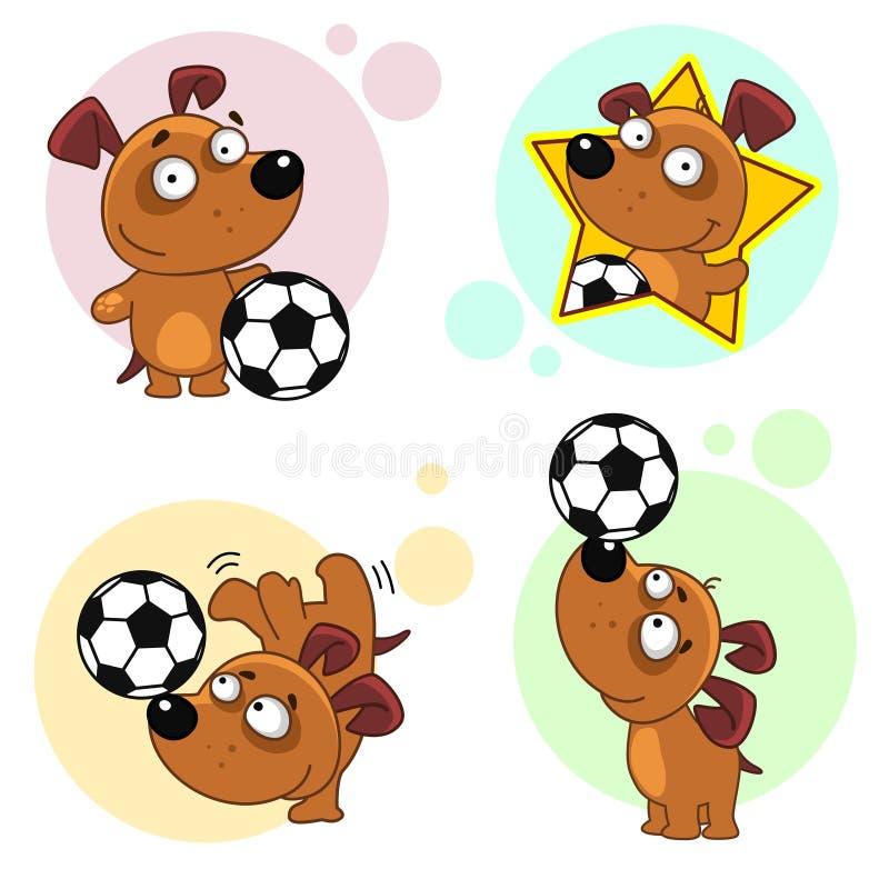 Значки с частью 19 собак бесплатная иллюстрация