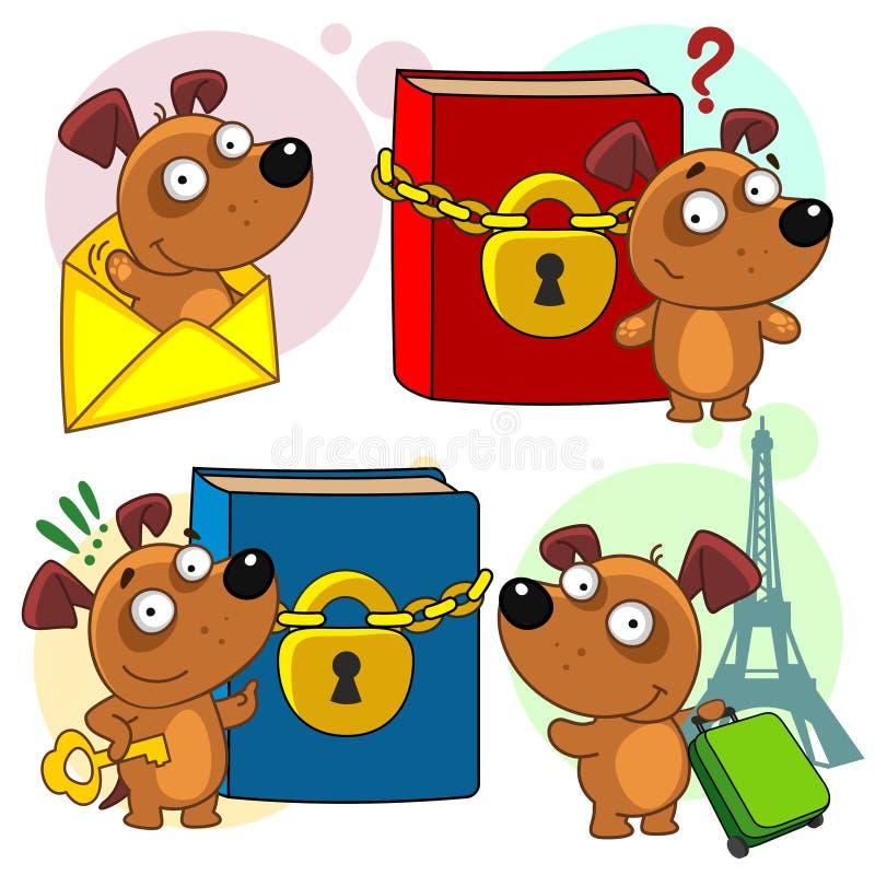 Значки с частью 20 собак иллюстрация вектора
