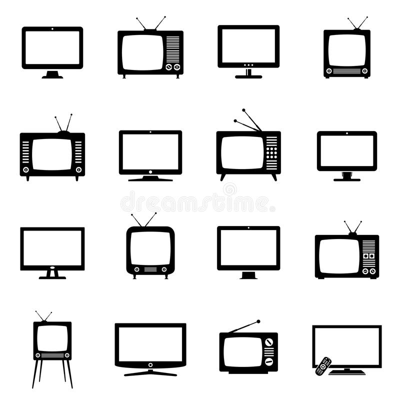 Значки ТВ иллюстрация штока