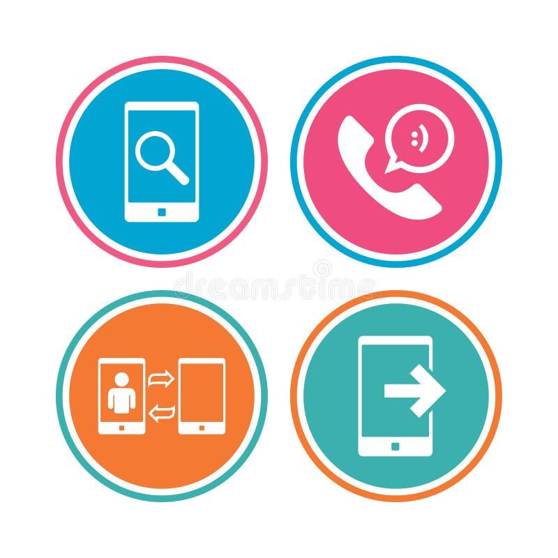 Download Значки телефона Символ поддержки центра телефонного обслуживания Иллюстрация вектора - иллюстрации насчитывающей плоско, данные: 81804855