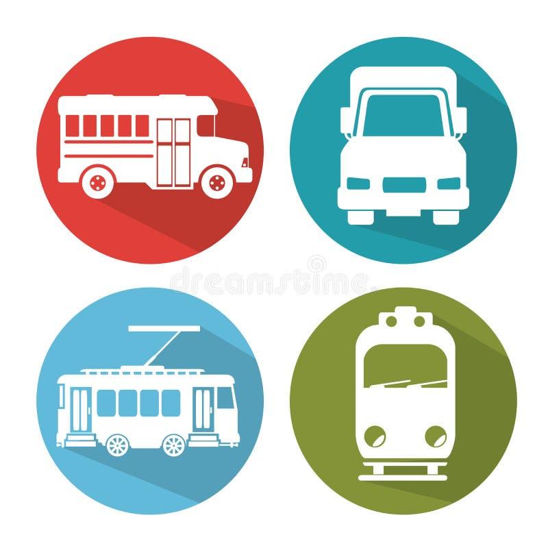 Значки транспортного средства Differents иллюстрация вектора
