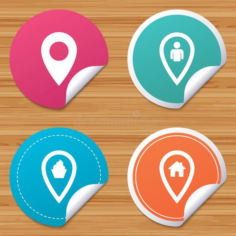 Download Значки указателя карты Положение дома, еды и потребителя Иллюстрация вектора - иллюстрации насчитывающей дом, еда: 81804132