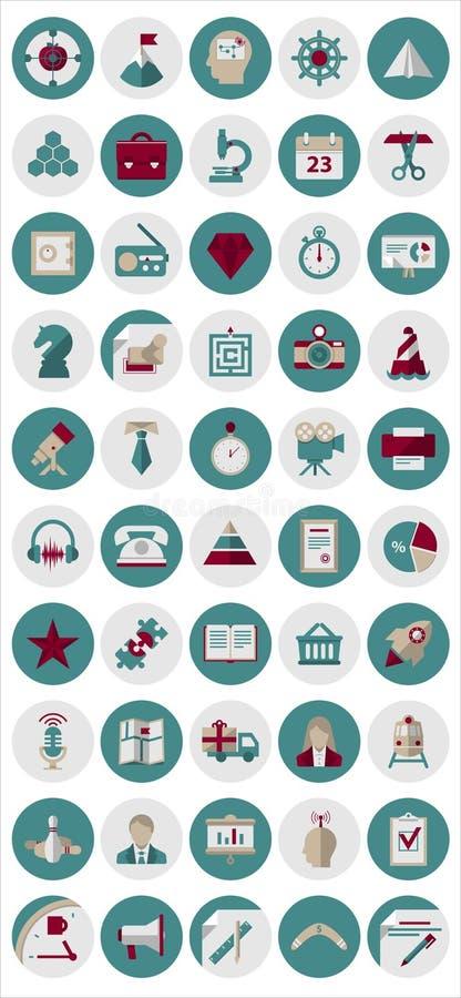 Значки управления и маркетинга иллюстрация штока