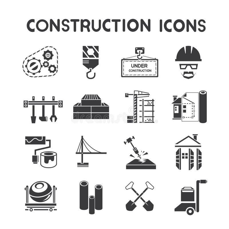 Значки управления конструкции иллюстрация штока
