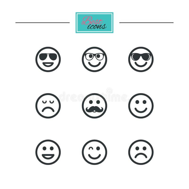 Download Значки улыбки Солнечные очки, усик и смеяться над Иллюстрация вектора - иллюстрации насчитывающей сторона, идея: 81805769