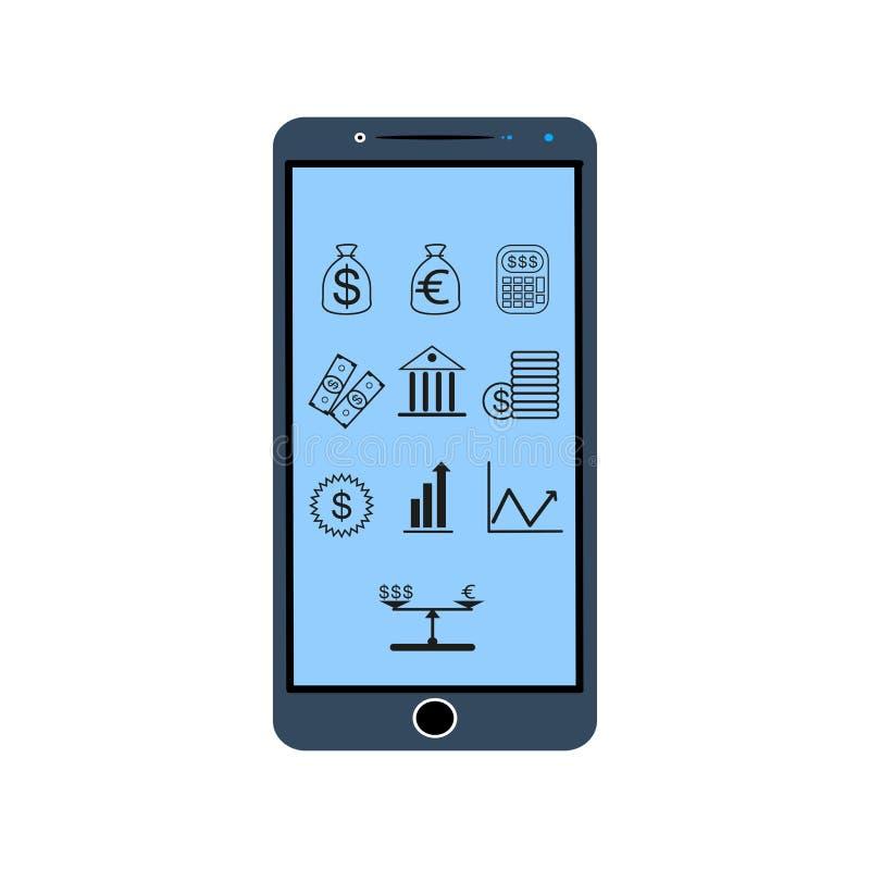 Download Значки финансов, вектор иллюстрация вектора. иллюстрации насчитывающей банка - 81801080