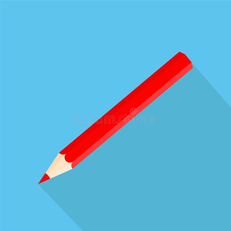 Значки формы значка квадратные красного карандаша в плоском дизайне Vector беда бесплатная иллюстрация