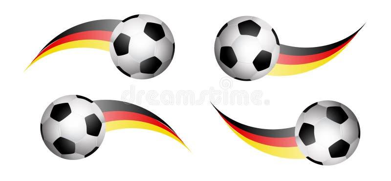 Значки футбольного мяча с swoosh флага Германии Вектор Eps10 бесплатная иллюстрация
