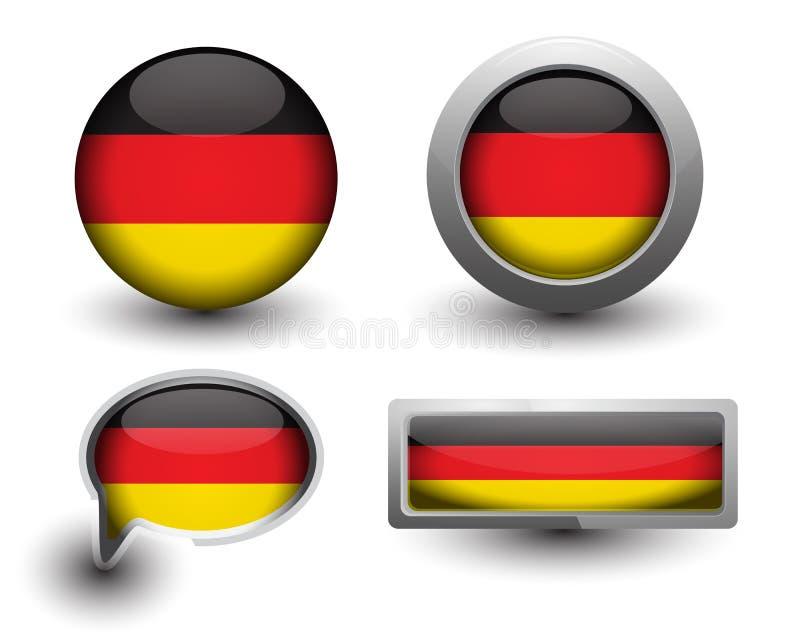 Значки флага Германии иллюстрация вектора