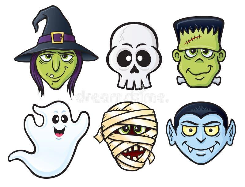 Значки характера хеллоуина стоковые изображения