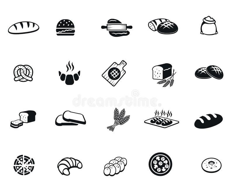 Значки хлеба иллюстрация штока