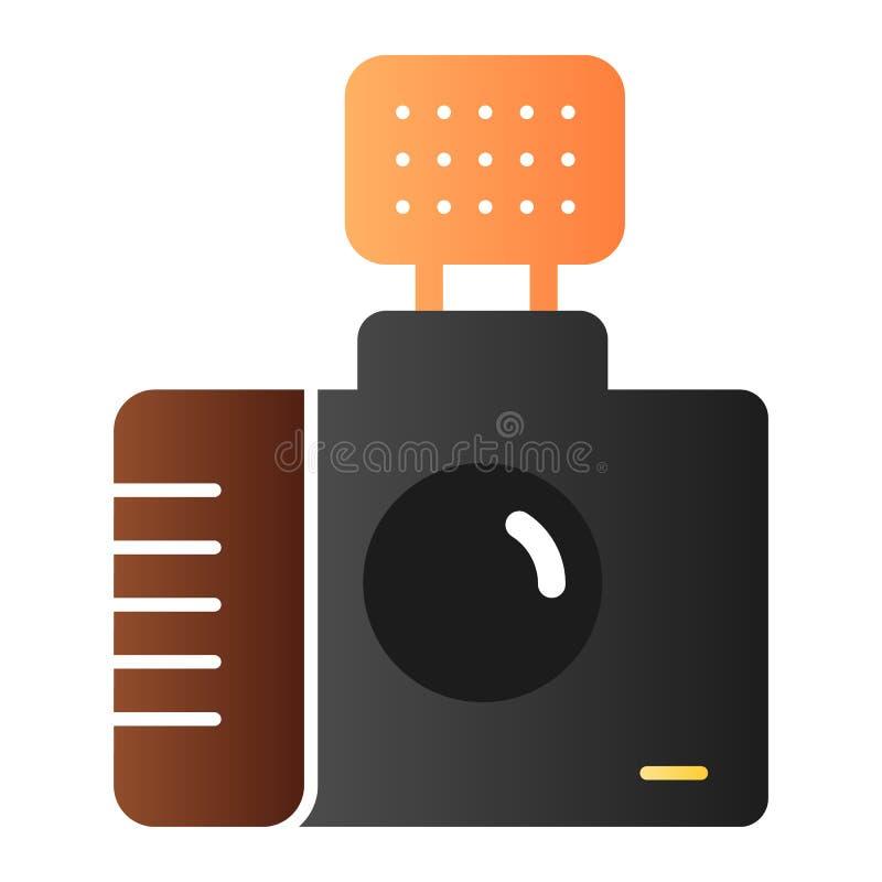 Значок камеры фото плоский Значки цвета фотографии в ультрамодном плоском стиле Дизайн стиля градиента шторки, конструированный д бесплатная иллюстрация