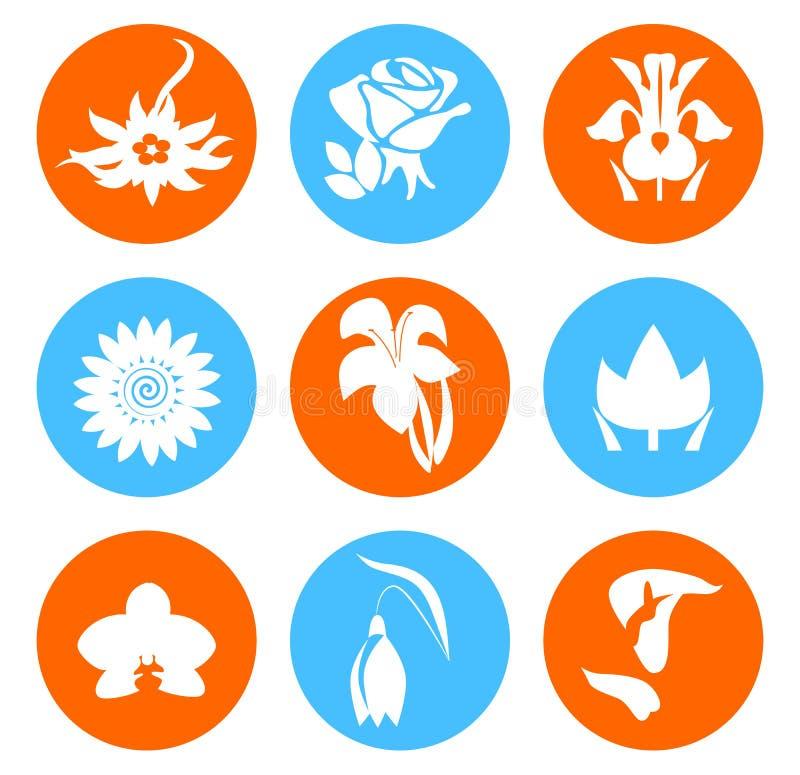 Значки цветков бесплатная иллюстрация