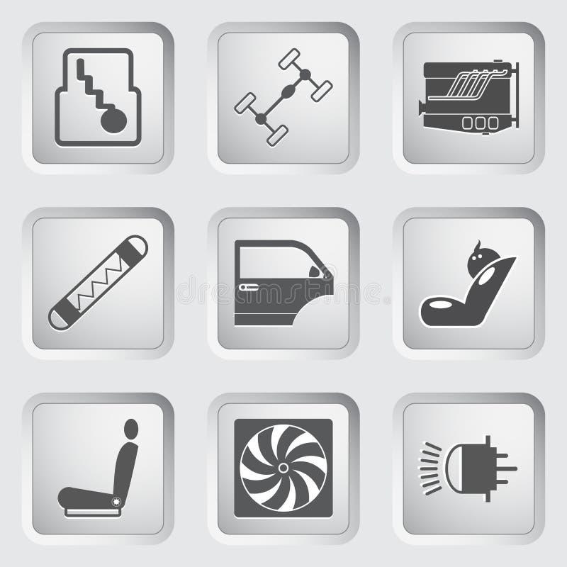 Значки части и обслуживания автомобиля установили 3. бесплатная иллюстрация