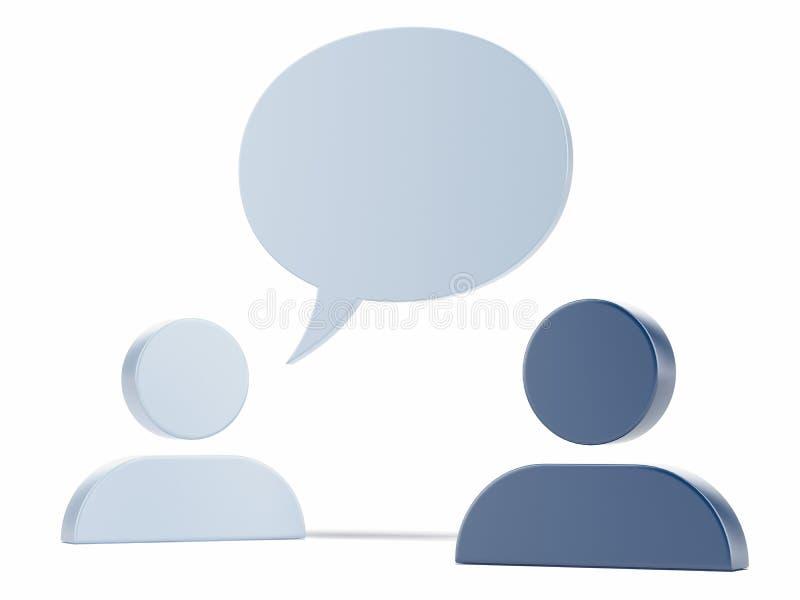 2 значки человека и пузыря речи иллюстрация штока