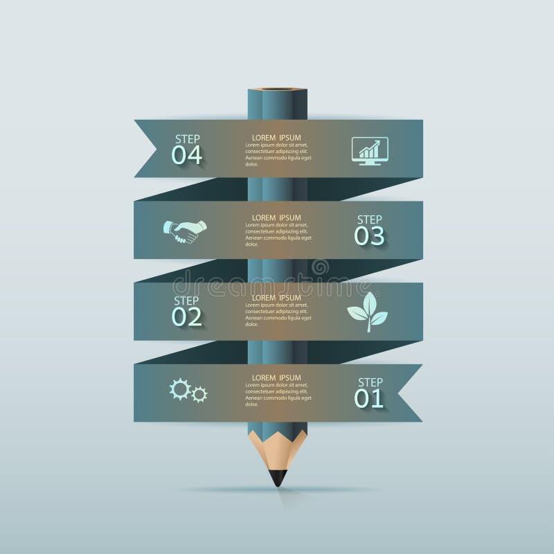 Значки шаблона и маркетинга дизайна Infographic иллюстрация вектора