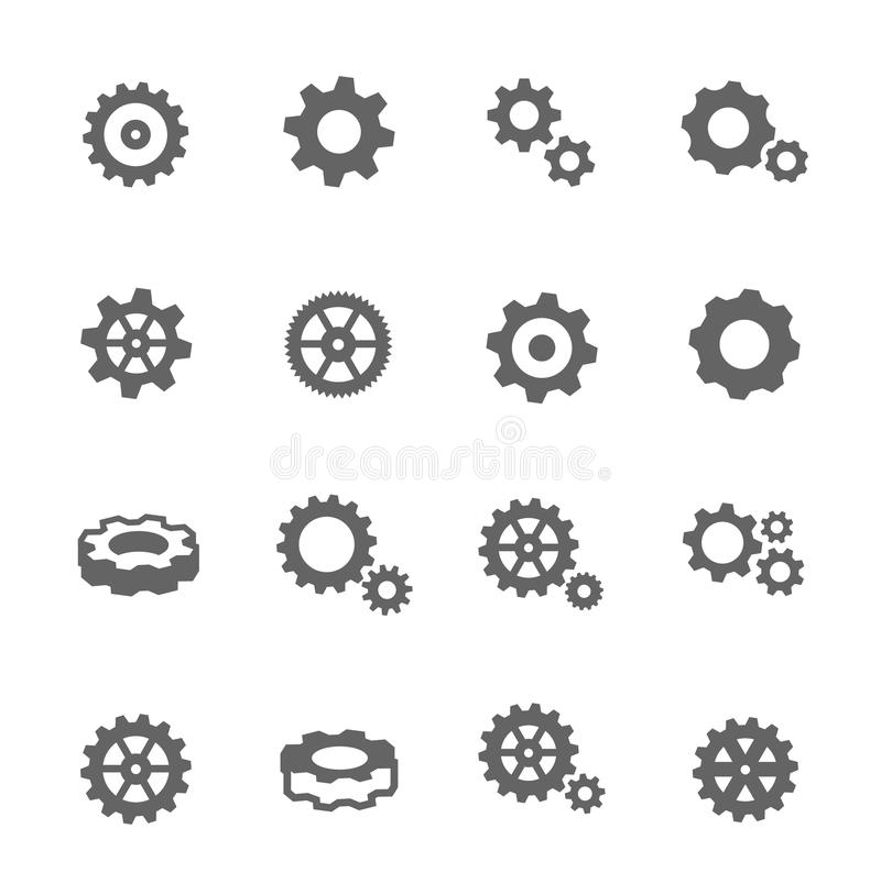 Значки шестерни бесплатная иллюстрация