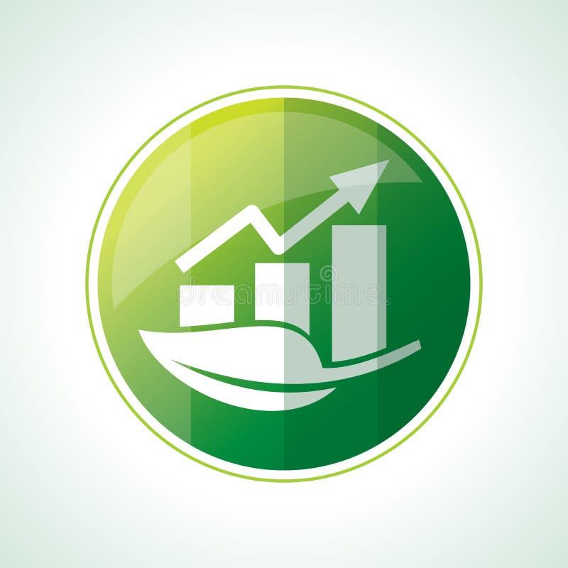 Значки экологичности с листьями зеленого цвета в векторе иллюстрация вектора