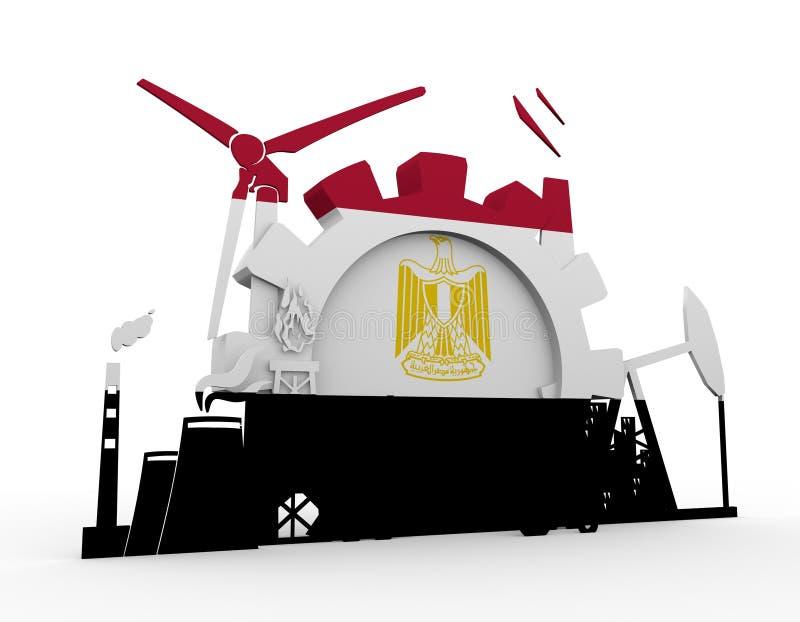 Значки энергии и силы установленные с Египтом сигнализируют иллюстрация штока