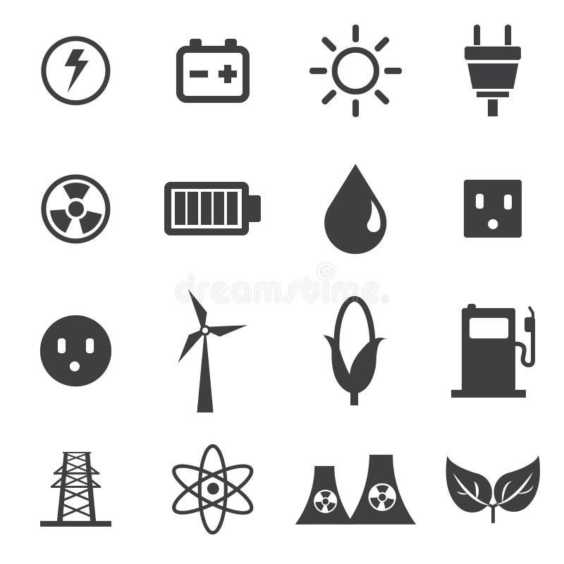 Значки энергии устанавливают, vector стиль дизайна illustion плоский бесплатная иллюстрация