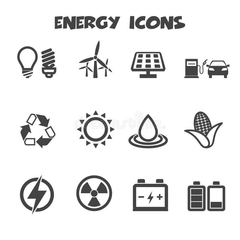Значки энергии бесплатная иллюстрация
