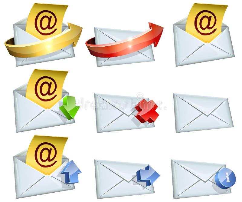 Значки электронной почты бесплатная иллюстрация