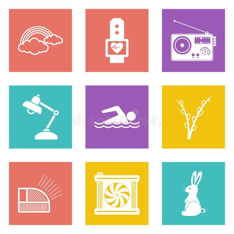 Значки для веб-дизайна установили 25 иллюстрация вектора