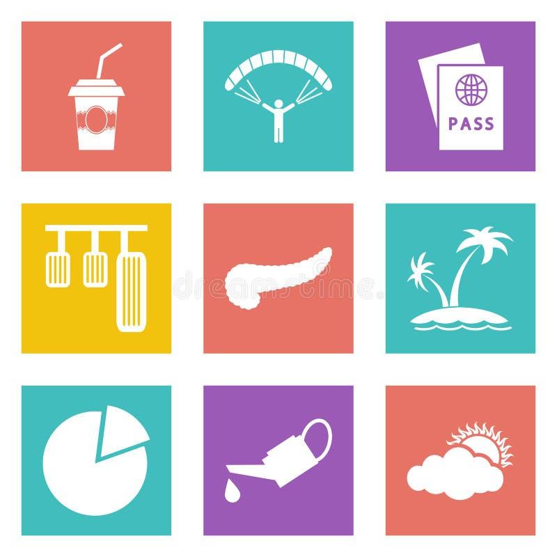 Значки для веб-дизайна установили 22 бесплатная иллюстрация