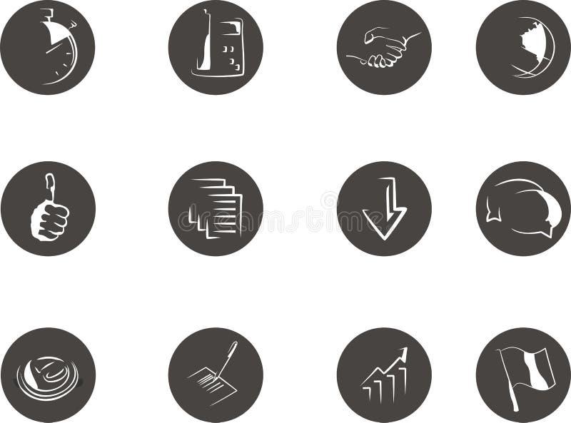 Значки для деловых изданий стоковое изображение