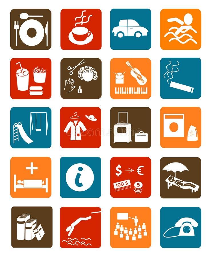 Значки для общественных мест стоковое изображение rf