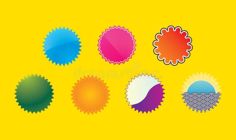 Значки стоковое изображение