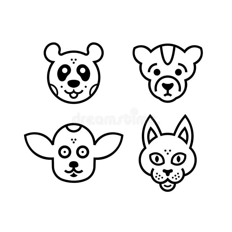 Значки animals2 стоковые фотографии rf