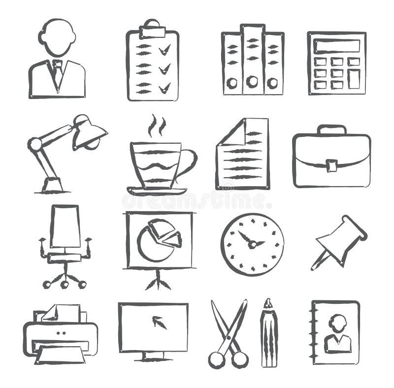 Значки Doodle офиса бесплатная иллюстрация