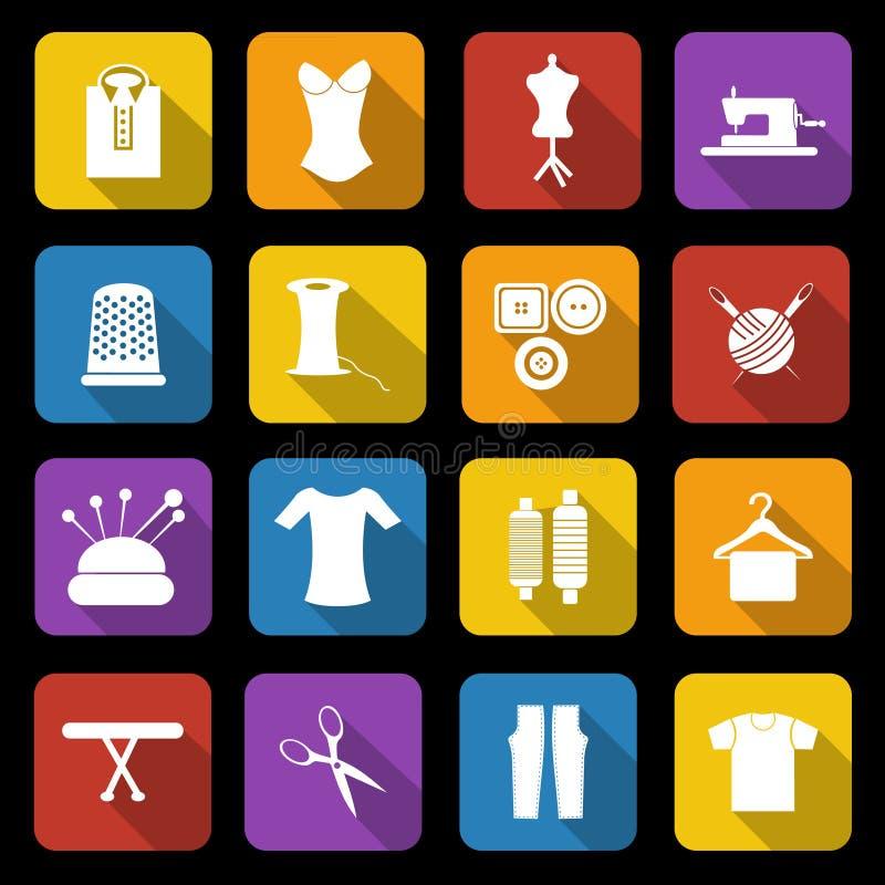 Download Значки Dressmaking иллюстрация вектора. иллюстрации насчитывающей художничества - 33735075