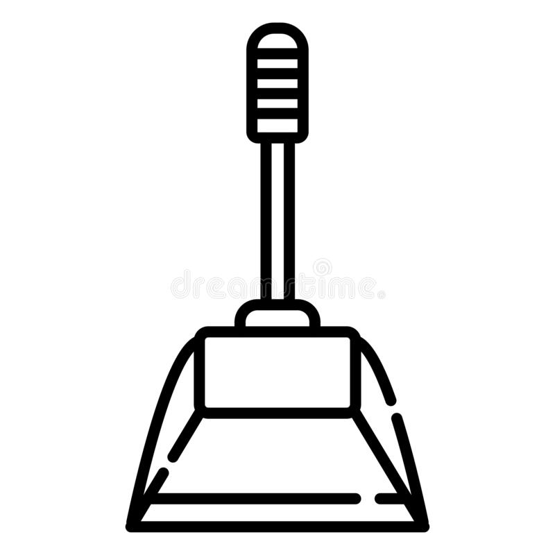 Значки dustpan значка иллюстрация штока
