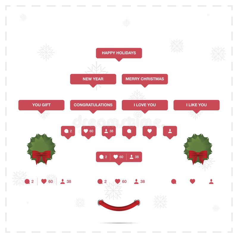 Значки Social и праздника бесплатная иллюстрация