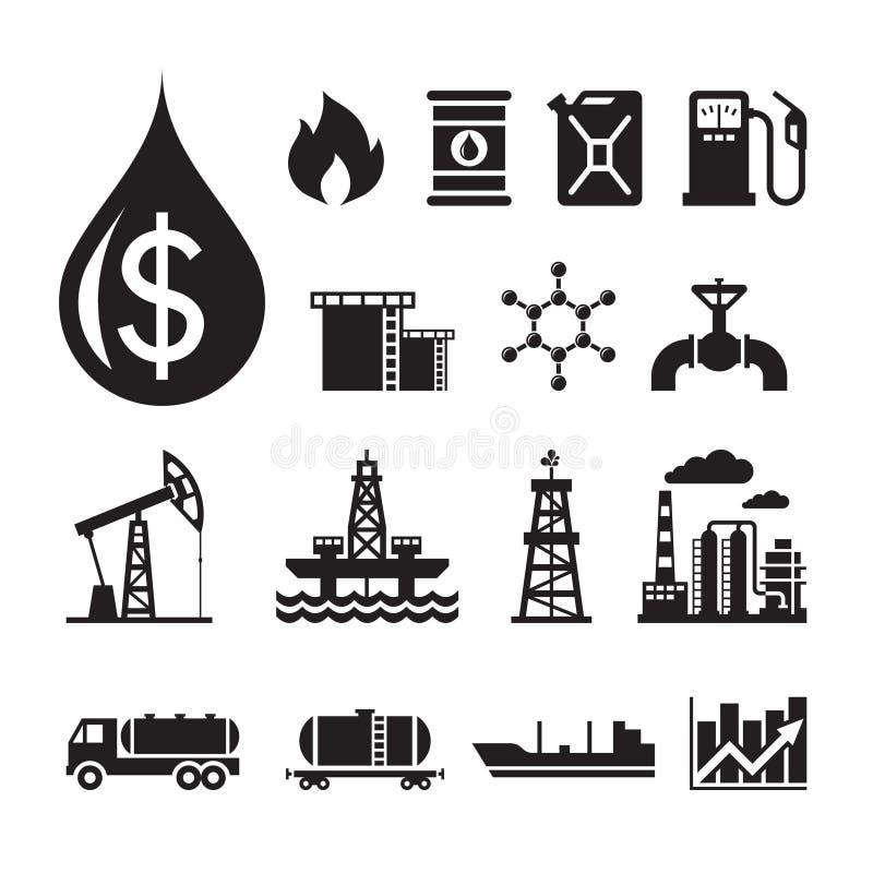 16 значков вектора нефтедобывающей промышленности для представления infographic, дела, буклета и различного дизайн-проекта иллюстрация штока