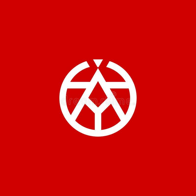 Значок абстрактного эмблемы (Art Point Letter A Abstract Logo) иллюстрация штока