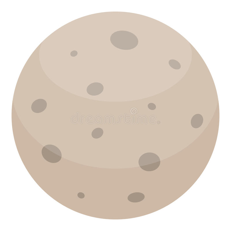 Значок абстрактной планеты плоский изолированный на белизне иллюстрация штока