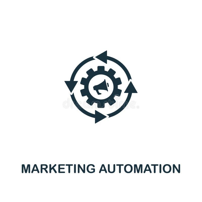 Значок автоматизации маркетинга Творческий дизайн элемента от собрания содержания значков Значок автоматизации пиксела идеальный  иллюстрация вектора